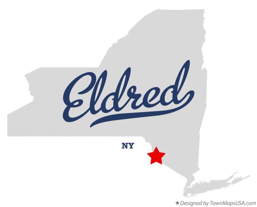 Map of Eldred New York NY