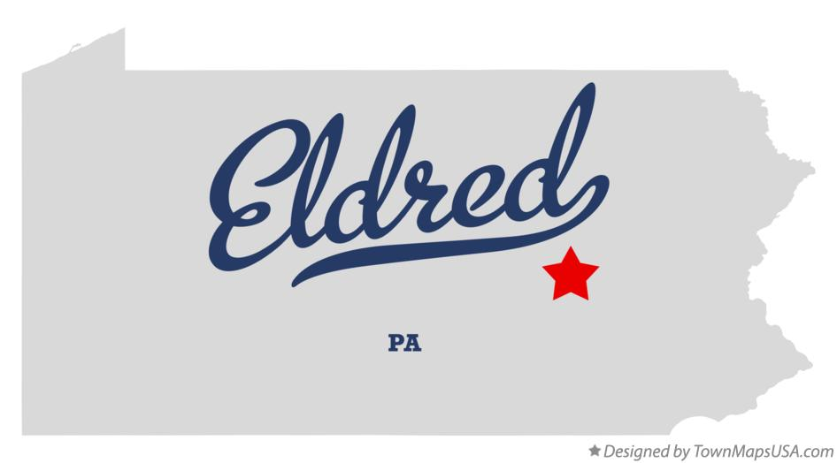 Map of Eldred Pennsylvania PA