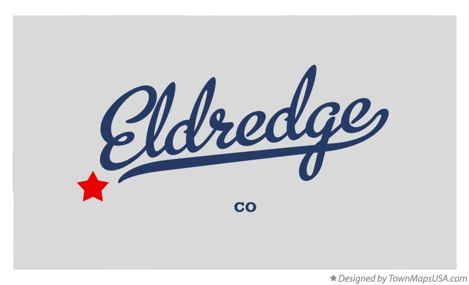 Map of Eldredge Colorado CO