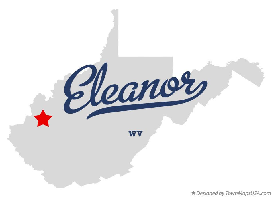 Map of Eleanor West Virginia WV