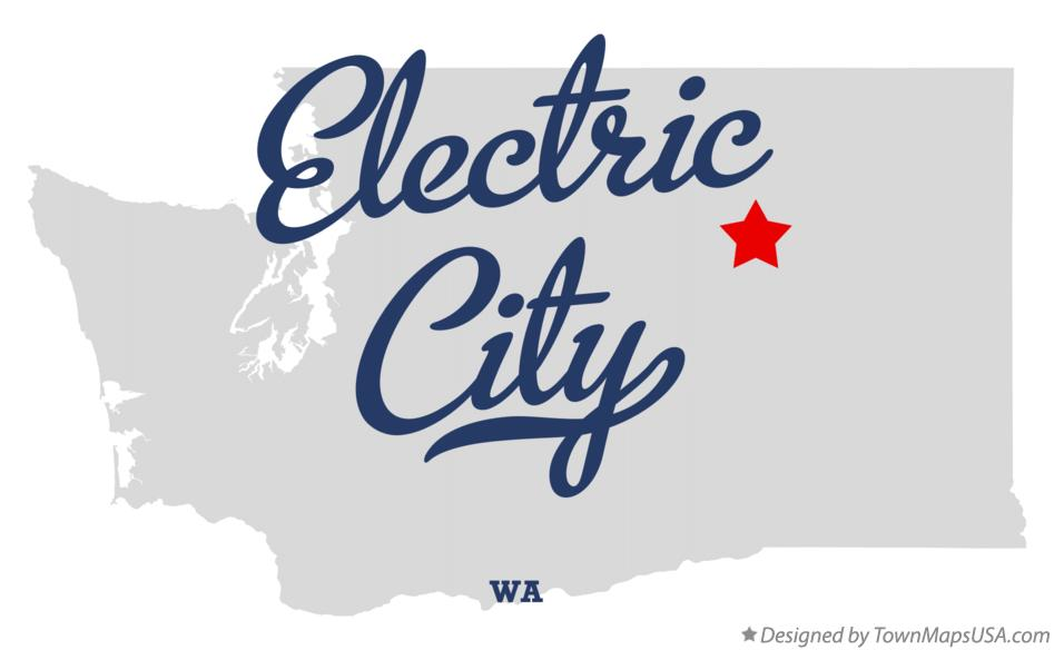 Map of Electric City Washington WA