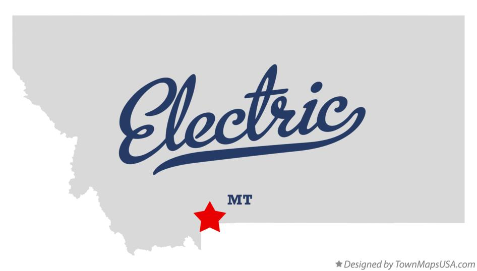 Map of Electric Montana MT