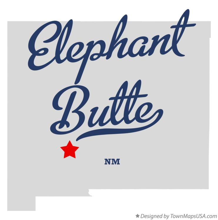 Map of Elephant Butte New Mexico NM