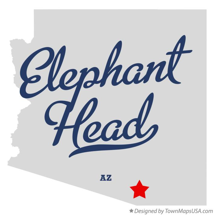 Map of Elephant Head Arizona AZ