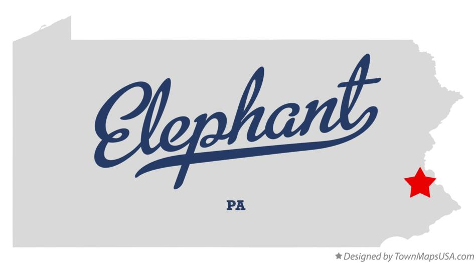 Map of Elephant Pennsylvania PA