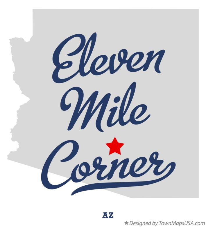 Map of Eleven Mile Corner Arizona AZ