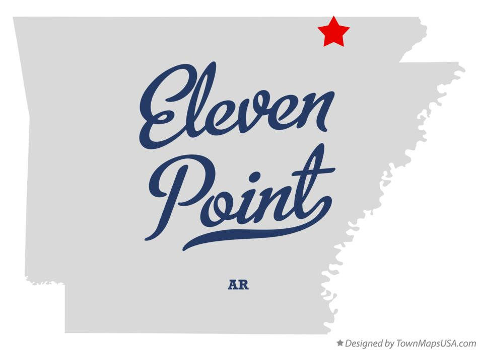 Map of Eleven Point Arkansas AR