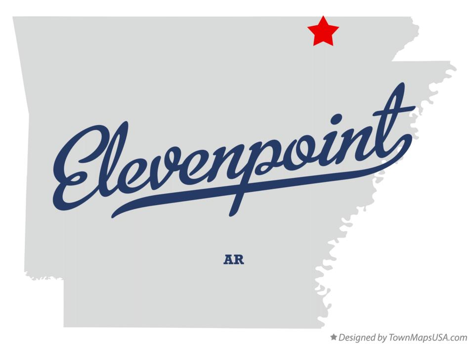 Map of Elevenpoint Arkansas AR