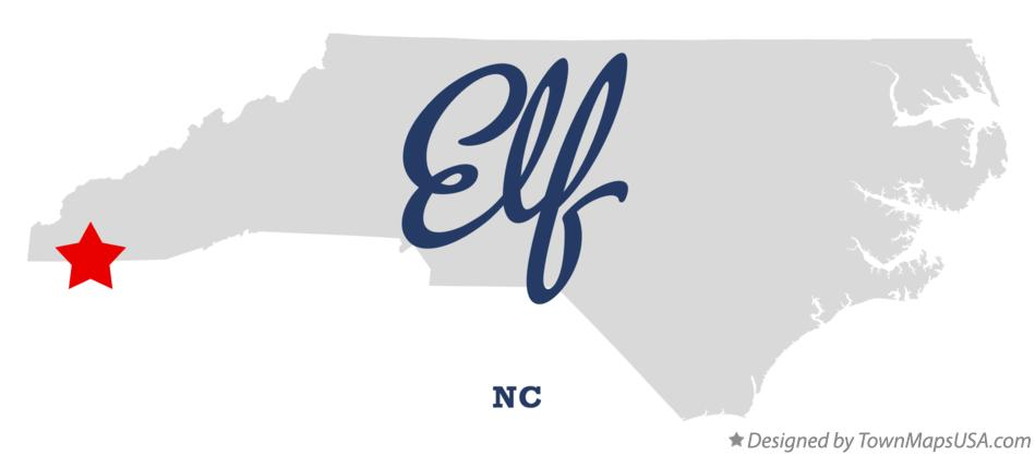 Map of Elf North Carolina NC