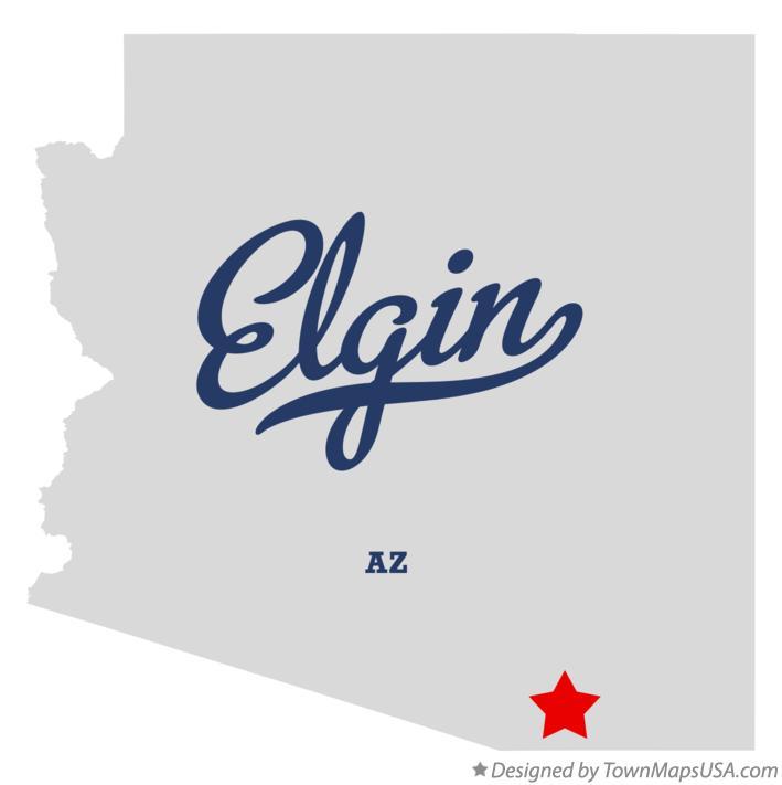Map Of Elgin Arizona.Map Of Elgin Az Arizona