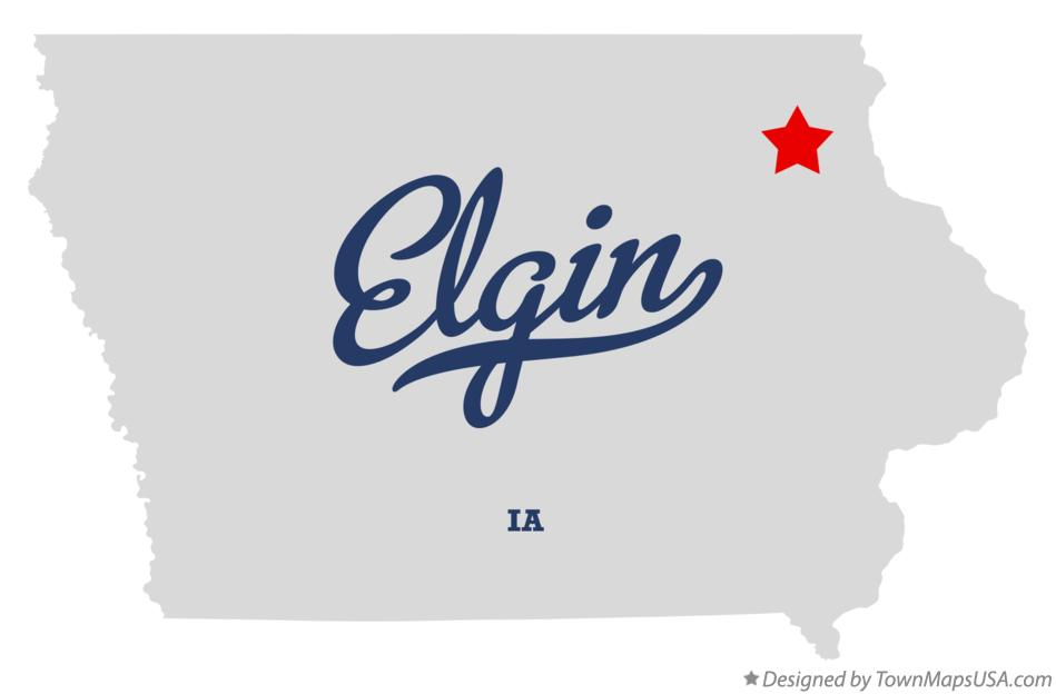 Map of Elgin Iowa IA