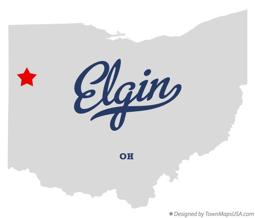 Map of Elgin Ohio OH