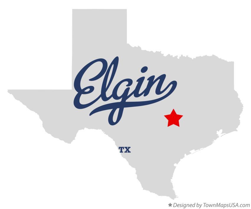 Map Of Elgin Texas