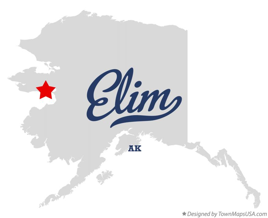 Map of Elim Alaska AK