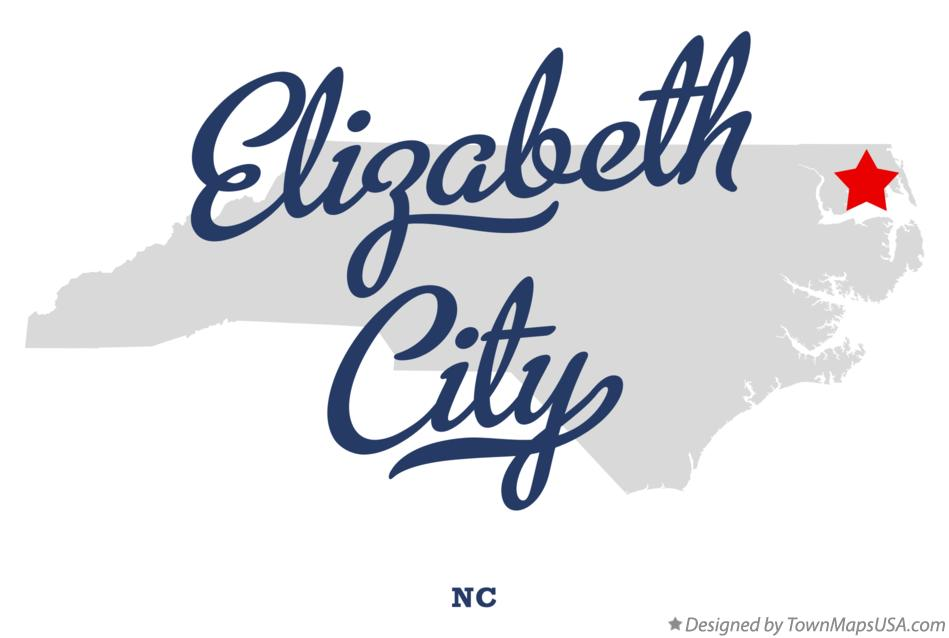 Elizabeth City Nc Map Map of Elizabeth City, NC, North Carolina