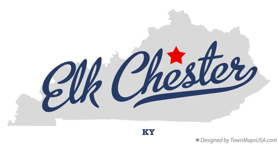 Map of Elk Chester Kentucky KY