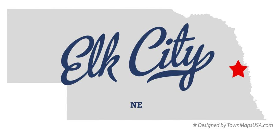 Map of Elk City Nebraska NE