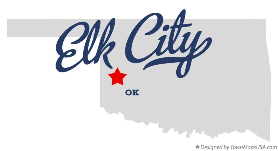 Map of Elk City Oklahoma OK