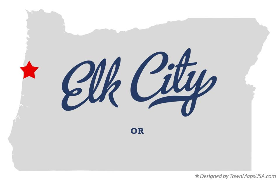 Map of Elk City Oregon OR