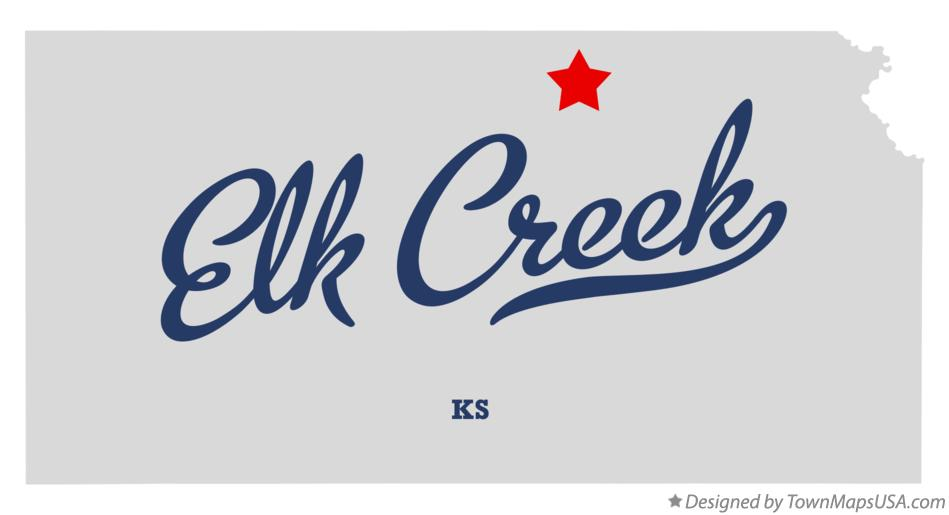 Map of Elk Creek Kansas KS