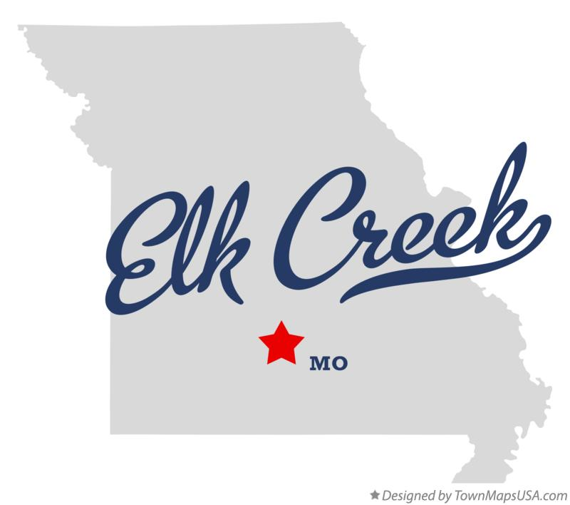 Map of Elk Creek Missouri MO