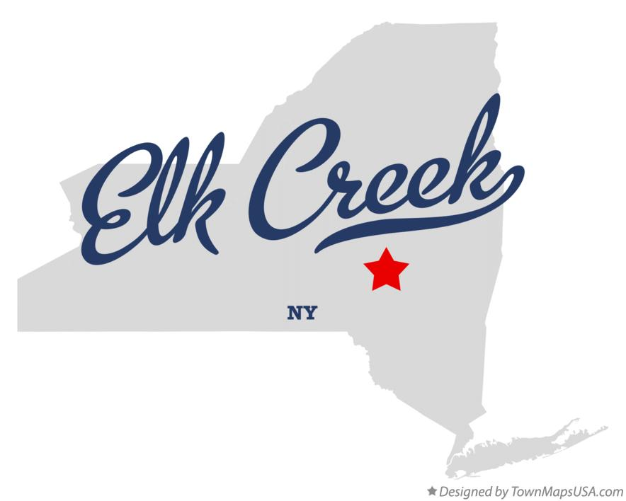Map of Elk Creek New York NY