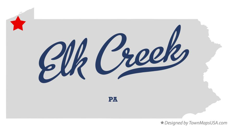 Map of Elk Creek Pennsylvania PA