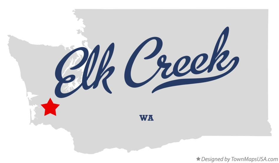 Map of Elk Creek Washington WA