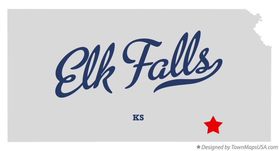 Map of Elk Falls Kansas KS