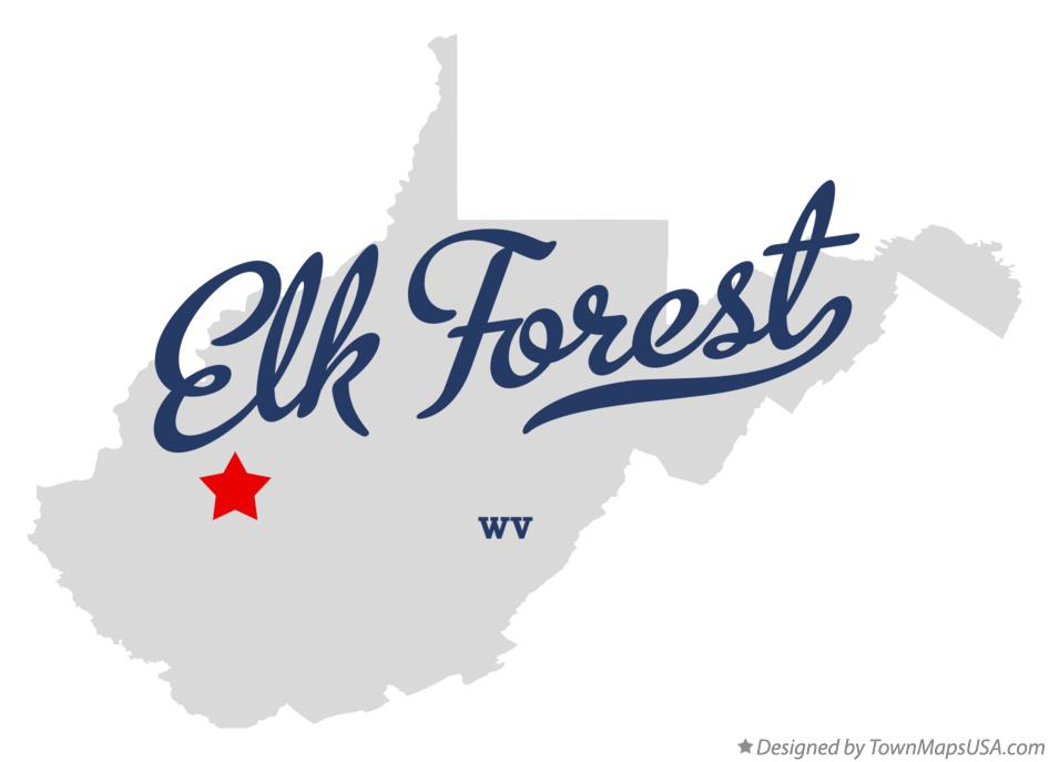 Map of Elk Forest West Virginia WV