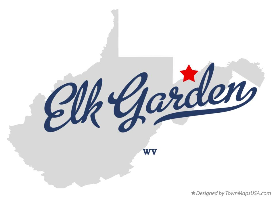 Map of Elk Garden West Virginia WV