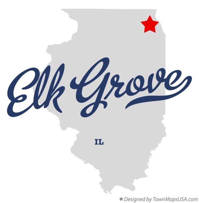 Map Of Elk Grove Il Illinois