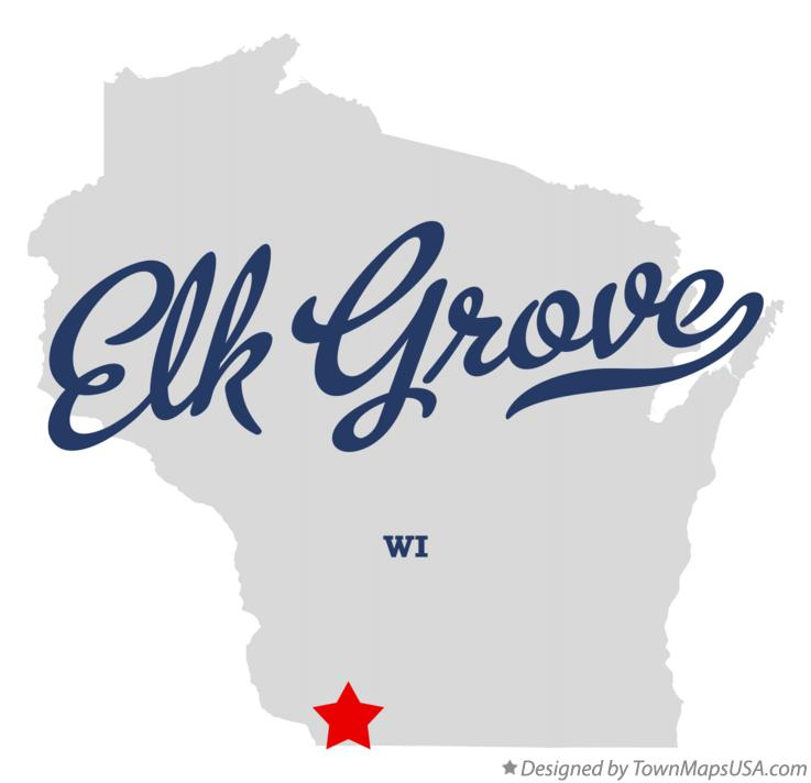 Map of Elk Grove Wisconsin WI