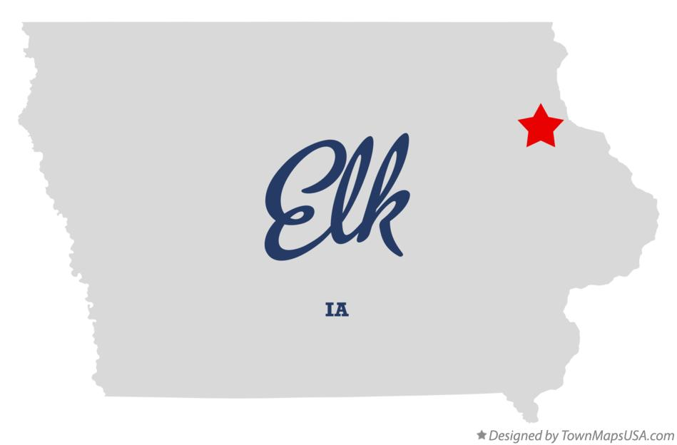 Map of Elk Iowa IA