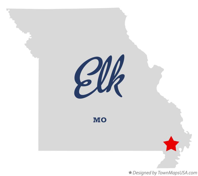 Map of Elk Missouri MO