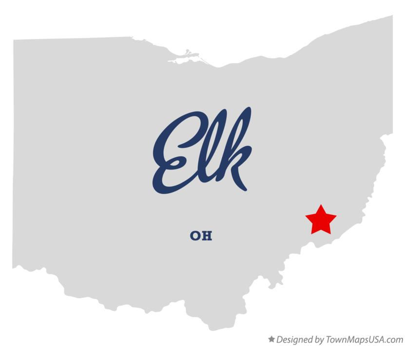 Map of Elk Ohio OH