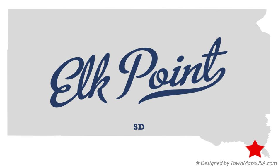 Map of Elk Point South Dakota SD
