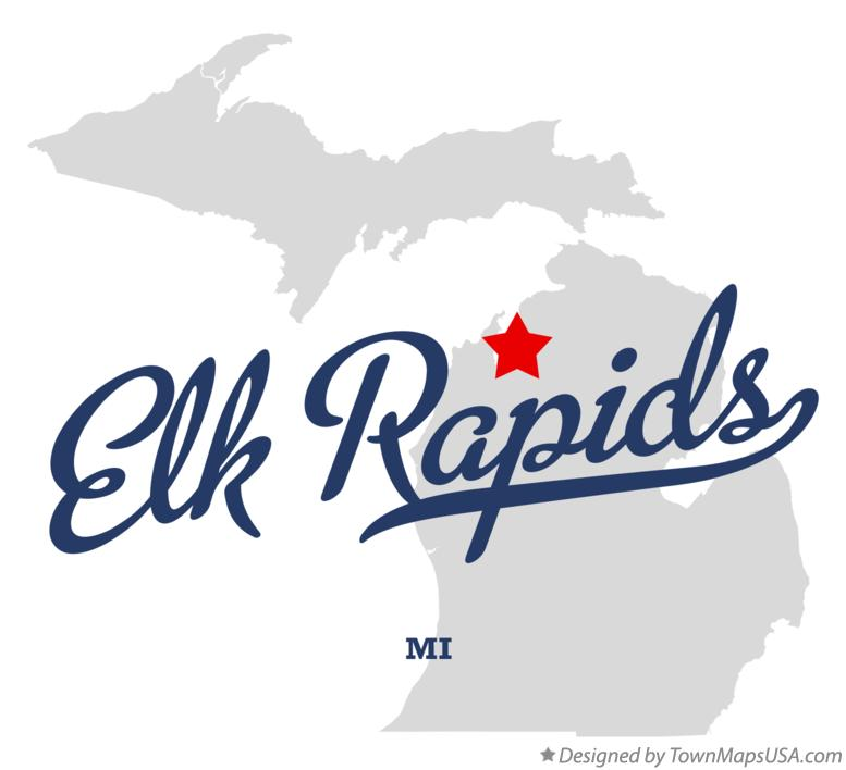 Map of Elk Rapids Michigan MI