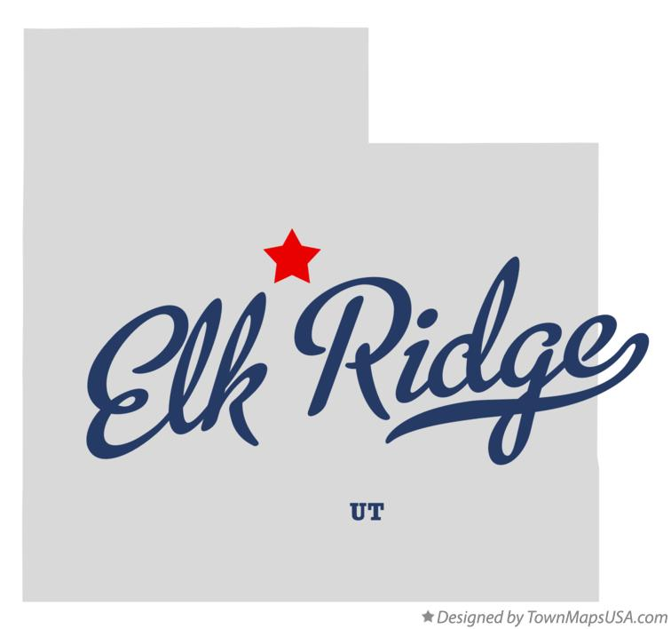 Map of Elk Ridge Utah UT