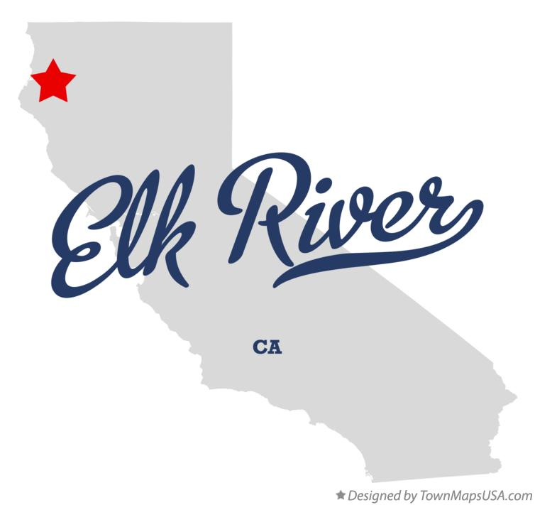 Map of Elk River California CA