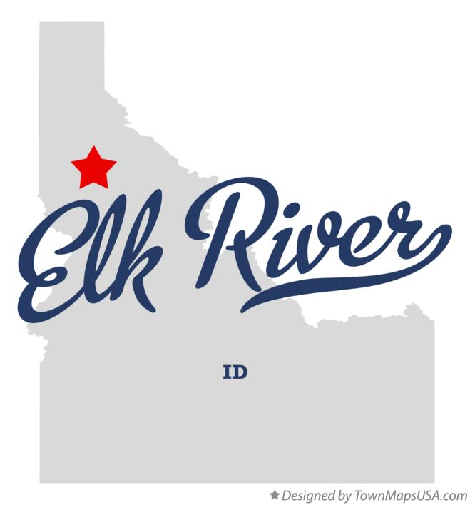 Map of Elk River Idaho ID