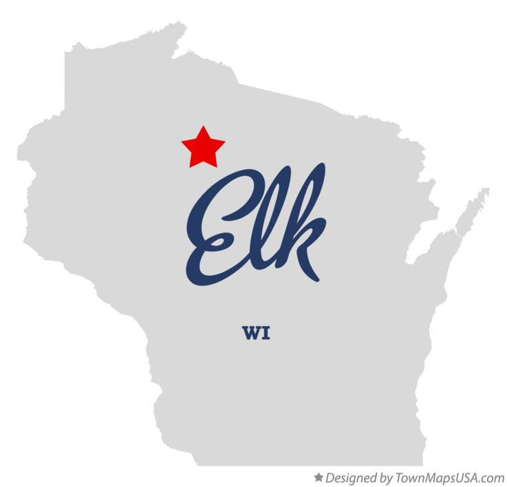 Map of Elk Wisconsin WI