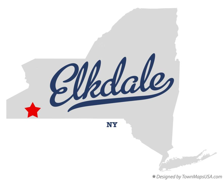 Map of Elkdale New York NY