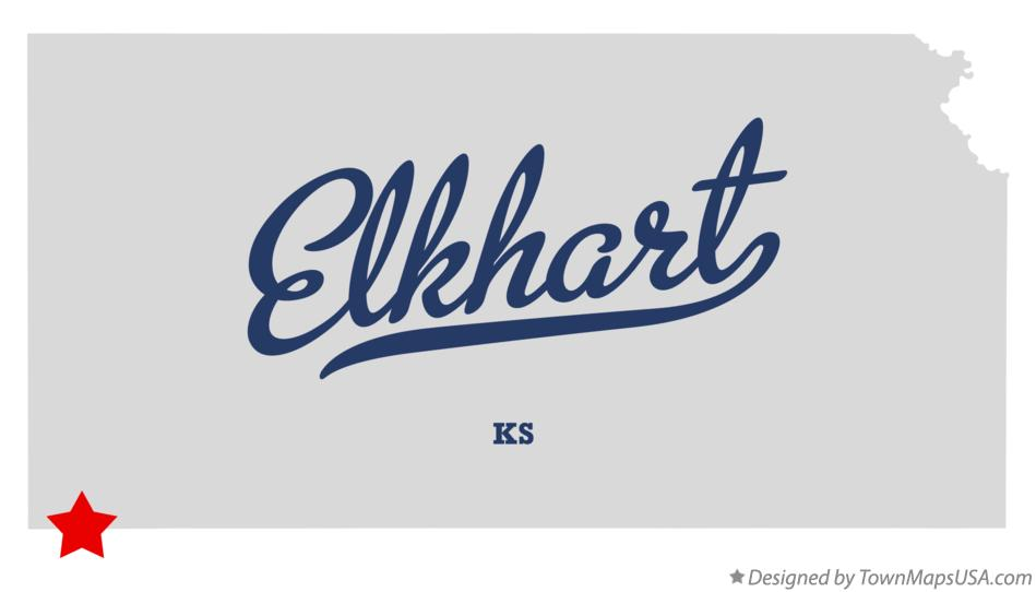 Map of Elkhart Kansas KS