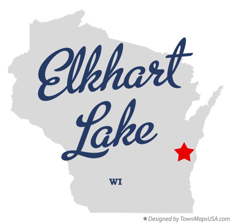 Map of Elkhart Lake Wisconsin WI