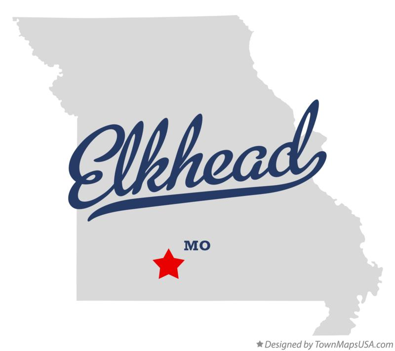 Map of Elkhead Missouri MO