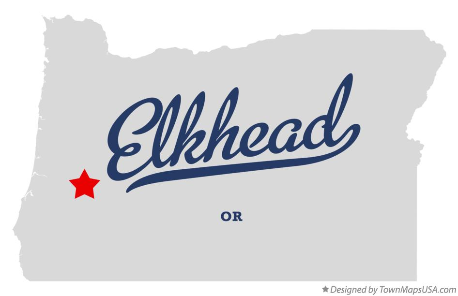 Map of Elkhead Oregon OR