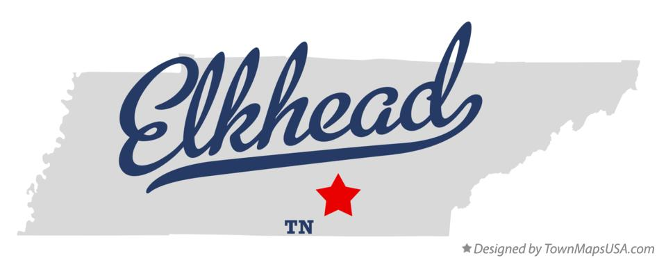 Map of Elkhead Tennessee TN
