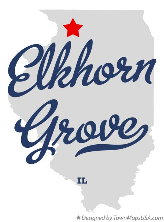Map of Elkhorn Grove Illinois IL