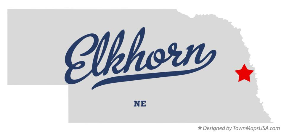 Map of Elkhorn Nebraska NE